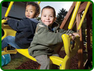Rubber Mulch Safety Surface Playground